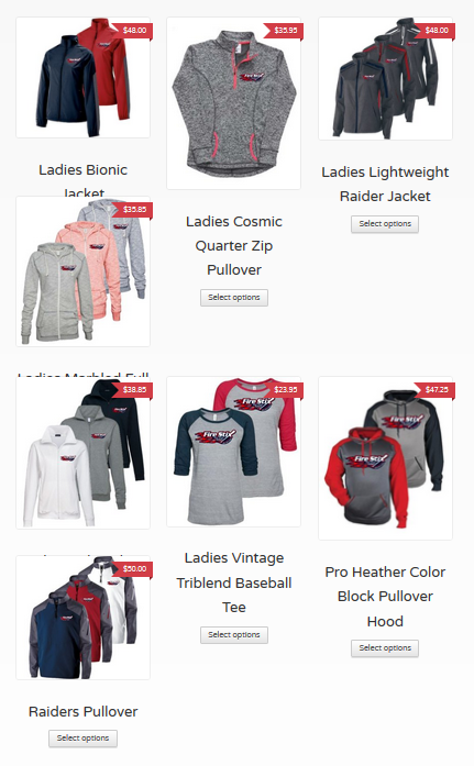 2019 spiritwear screenshot