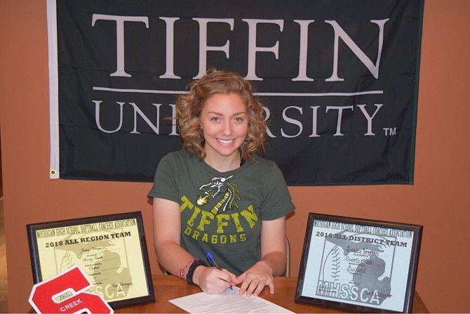 Jess Verran Commits to Tiffin University